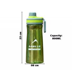 WATER BOTTLE PLASTIC SPORTS BOTTLE GYM BOTTLE CHFE WB-04 - 800ML CAPACITY