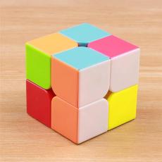 Rubiks cube 2x2 - Mind Puzzle Rubiks cube - Sticker less Magic Cube 2x2x2