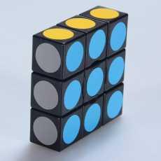 Rubiks cube 1x3x3 - Mind Puzzle Rubiks cube - Original Magic Cube 3x3x1