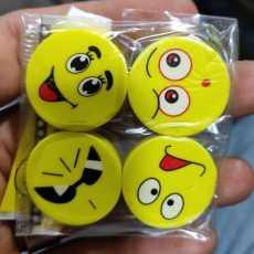 Emoji fancy eraser's pack of 4