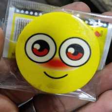 Emoji eraser big size round shape