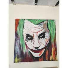 Famous joker oil painting