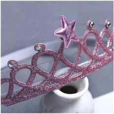 Baby Headwear Gold Silver Crown Hair Accessories Girls Elastic Headband...