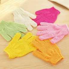 Pair of 5 Fingers Bath Scrubber Body Gloves Bath Gloves
