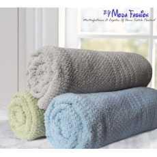 Pack Of 3 Bath Towel Jacquard Design Assorted Colors