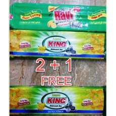 King Dishwash bar - Long Bar - Lemon - 2 + 1 Free Super Saving
