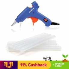 Small glue gune  with 5-Glue Sticks Bundle - Blue