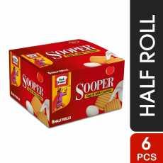 Pack of 6 Sooper Clasic Biscuit- Half Roll 65.96 gms x6