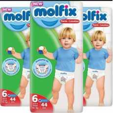 Molfix pants etra large Size 6 (15 + kg) Jumbo Pack
