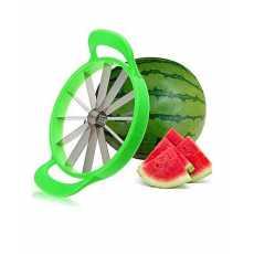 Stainless Steel Watermelon Cutter Melon Slicer - Green