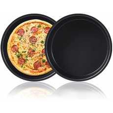 ROHA Non Stick Pizza Pan, Round Metallic Pizza Baking Tray For Homemade...